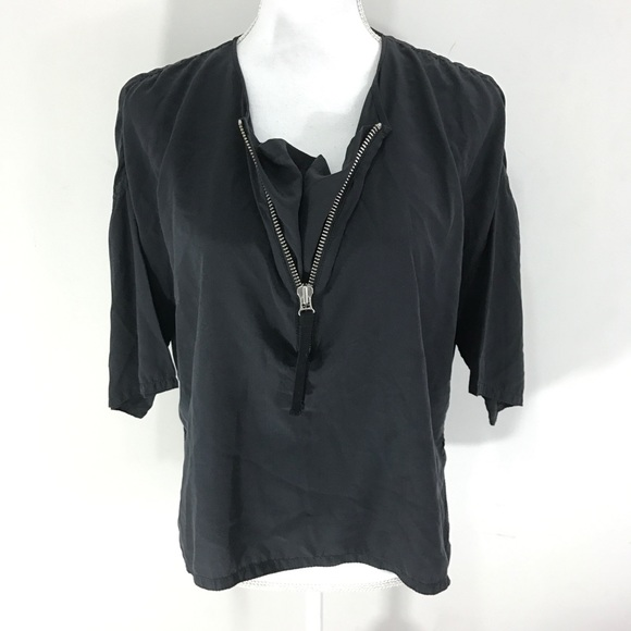 afc9c1a54c Marni Tops - Marni 100% silk zip front oversized tee